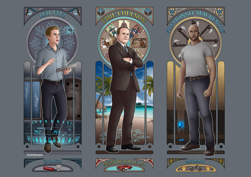 Art Nouveau - Agents of SHIELD Men by eclecticmuse