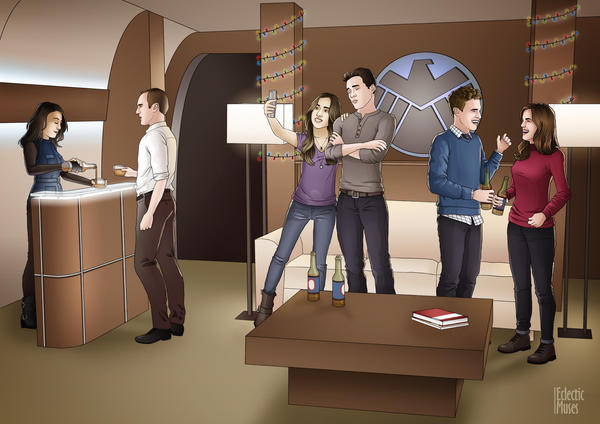 Agents of SHIELD - A Bus Team Christmas by eclecticmuses