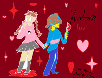 yumme nikki and frizk request by Tazzmanian--Devil