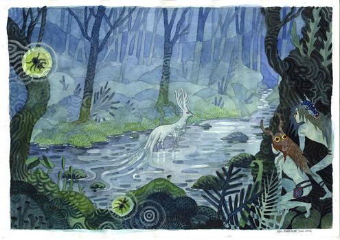 Deer of the elder forest