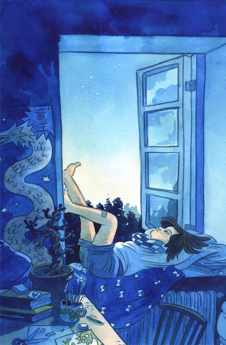 Summer night by Elolinon