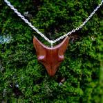 OKTIE Fox wooden pendant