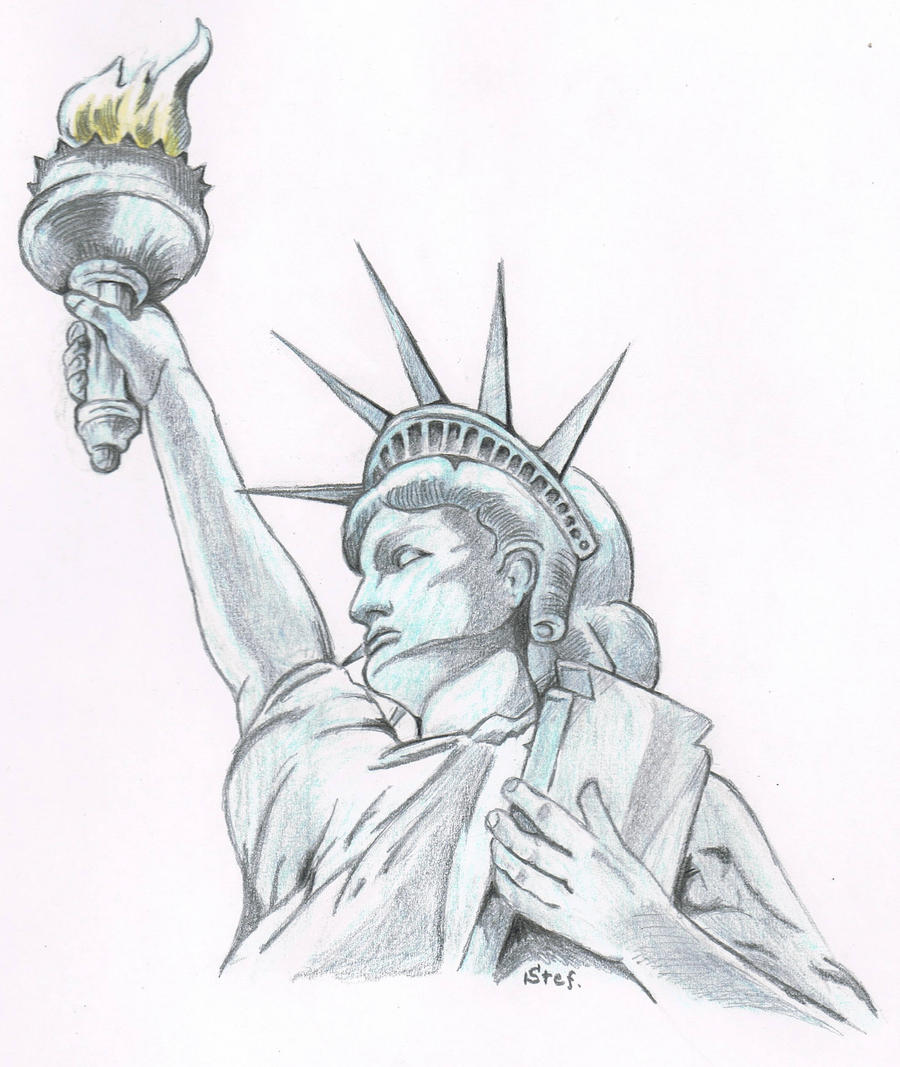 Statue of Liberty by Chtoxx on DeviantArt Statue Of Liberty Drawing Face