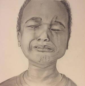 Portrait - Crying Boy