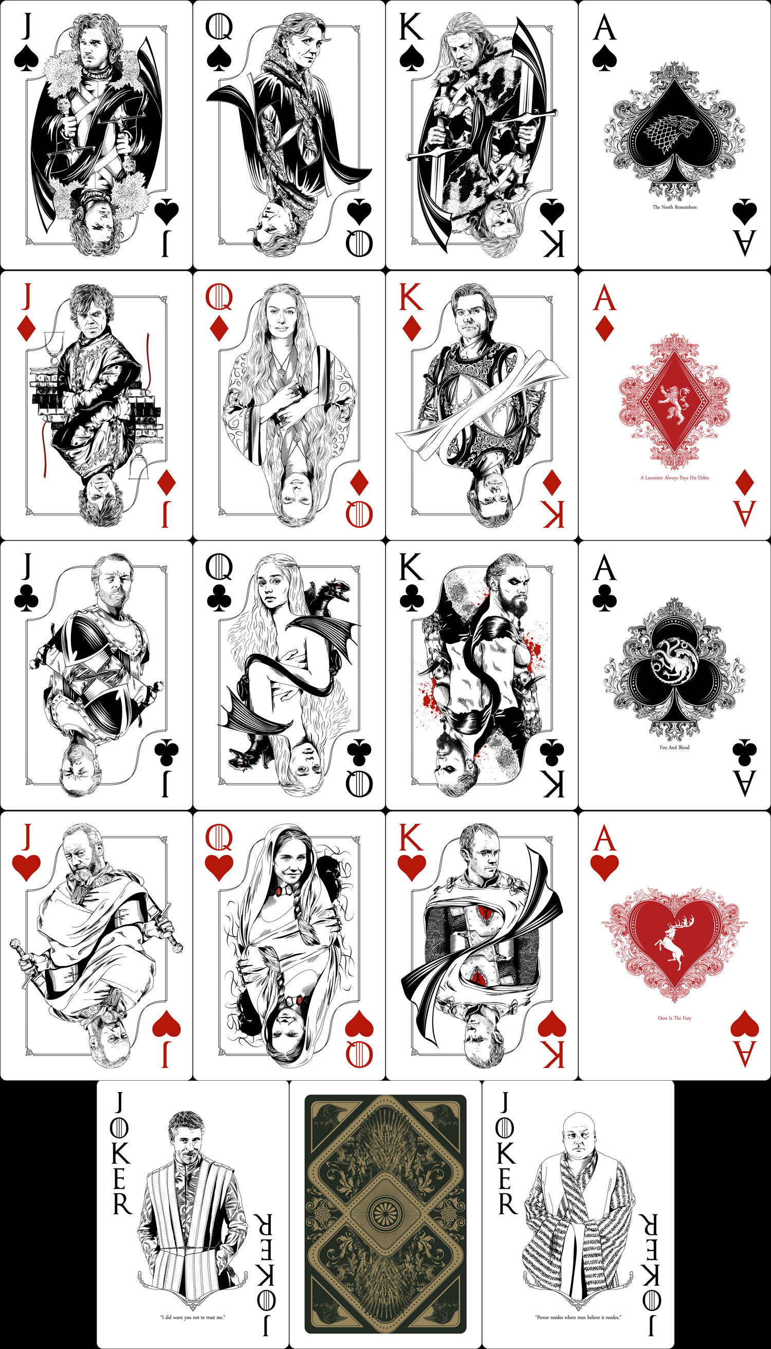 Game of Thrones Playing Cards by mafaka