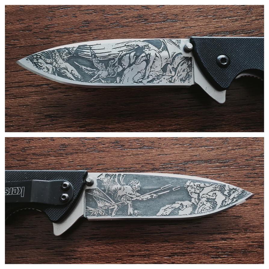 Paradise Lost Knife Etching by mafaka