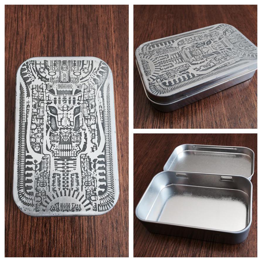 H.R. Giger Tin Etching by mafaka