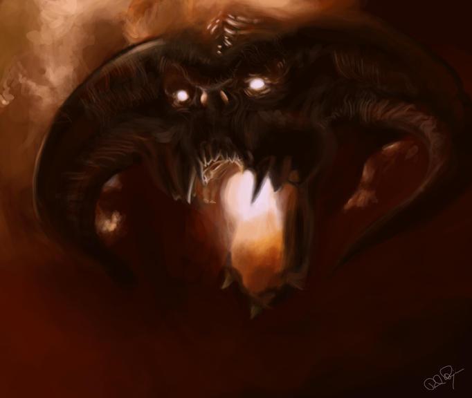 Balrog by Mafaka dans Darkness Balrog_by_mafaka