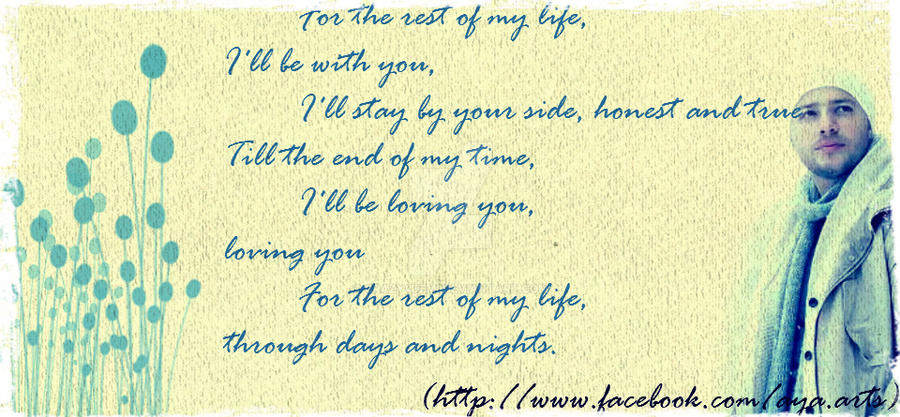 For the rest of my life. (Maher Zain) by crazy4demi