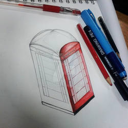 London phone box. WIP