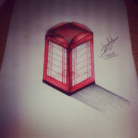 London phone box.