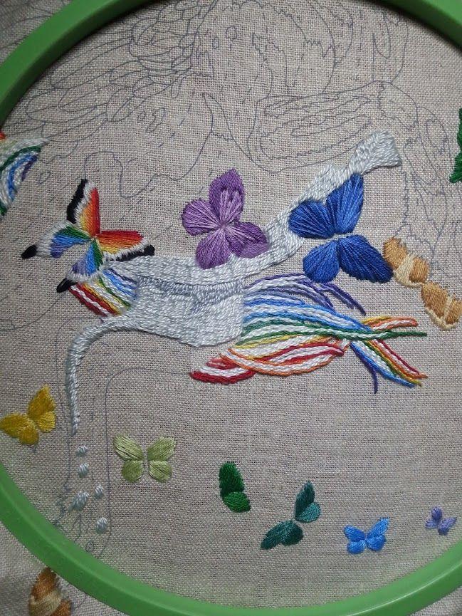 2015-04-16 Pegasus and Butterflies by Miriya411