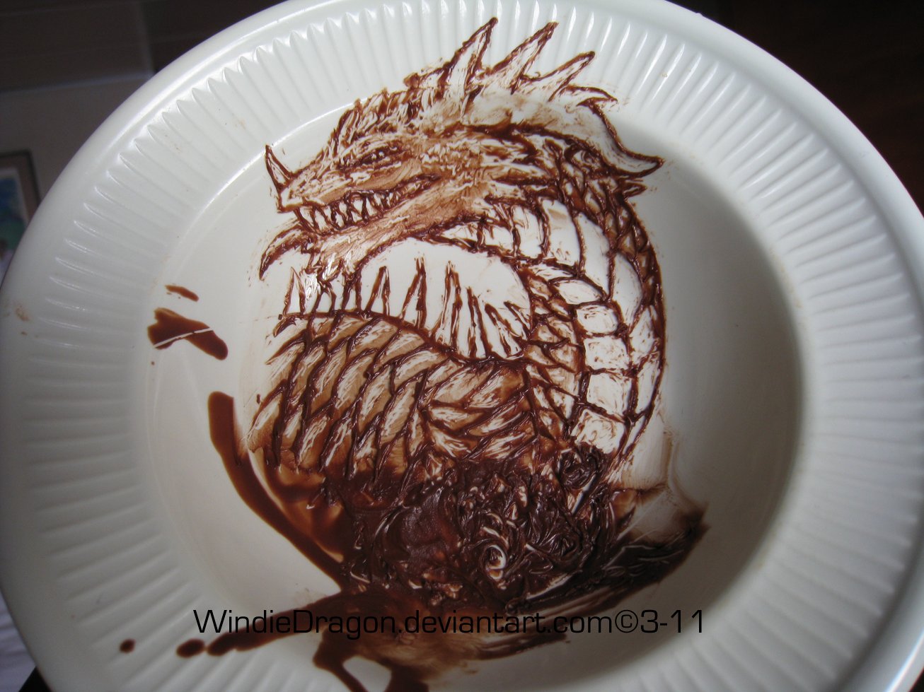 Chocolate Dragon by WindieDragon