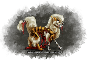 The Fluffiest Fire Zombie