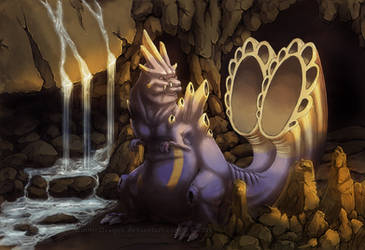 Deafening Cave Dragon by WindieDragon