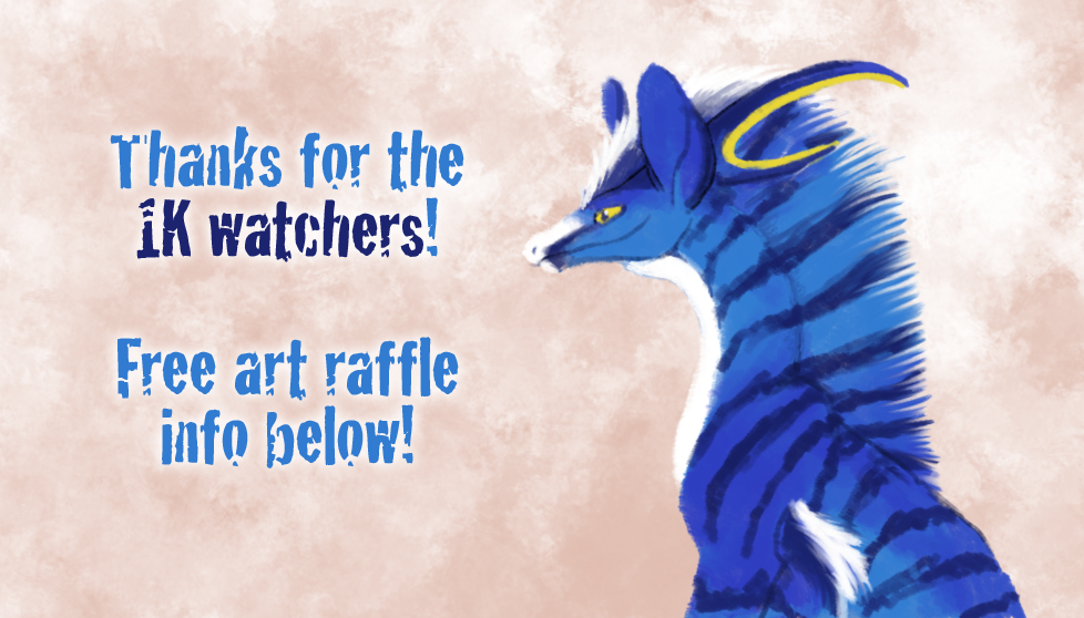 Thanks for the 1K Watchers! (+ Free Art Raffle) by WindieDragon