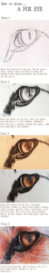 How to draw... A FOX EYE