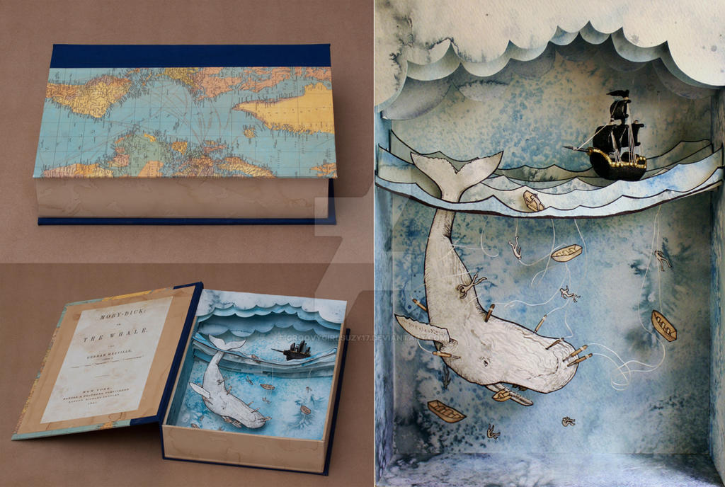 Moby Dick Shadowbox by Groovygirlsuzy17
