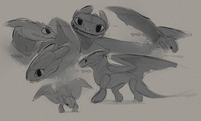 Toothless Sketches by Teparda