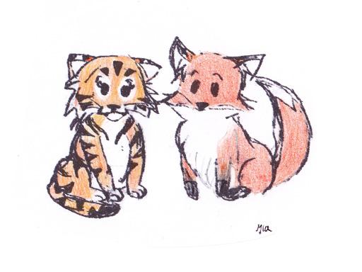 The Fox and the Tiger by RyokoToraDo