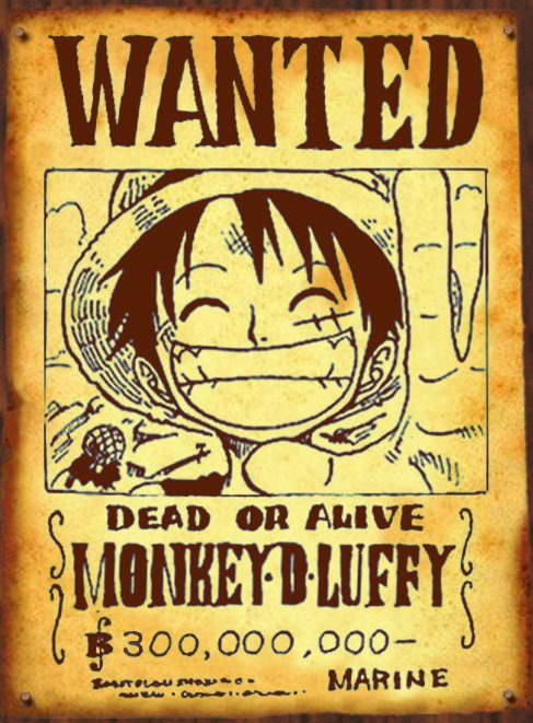 Wanted luffy 300 39 000 39 000b by san999 on deviantart - One piece wanted luffy ...