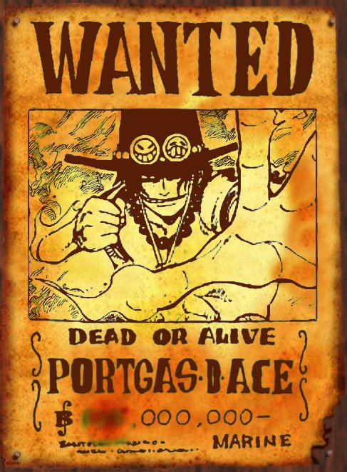 wanted portgas d. ace by San999 on DeviantArt