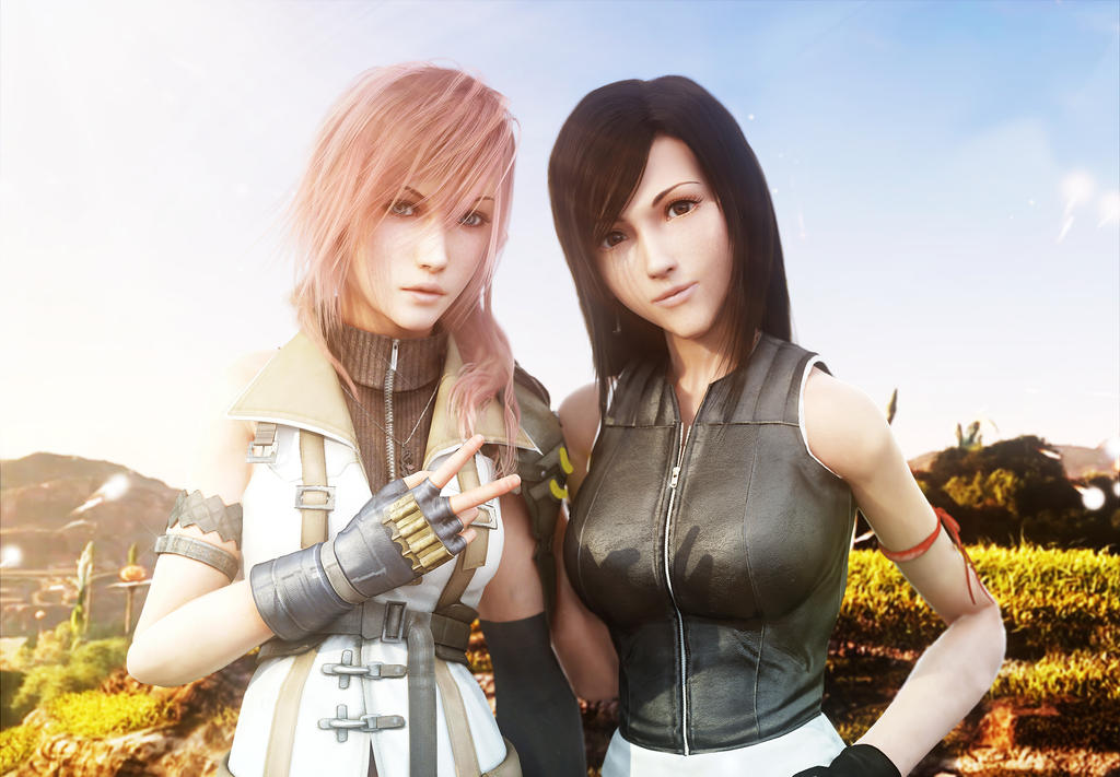 :: Lightning and Tifa :: by VincentXyooj