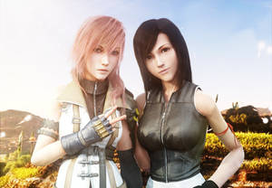 :: Lightning and Tifa ::