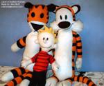 Calvin and Hobbes Plush Dolls (Pic #01) by Yakkomia