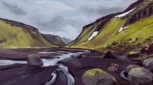 A River in Iceland by schattenlos