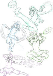 Korra Sketches by schattenlos