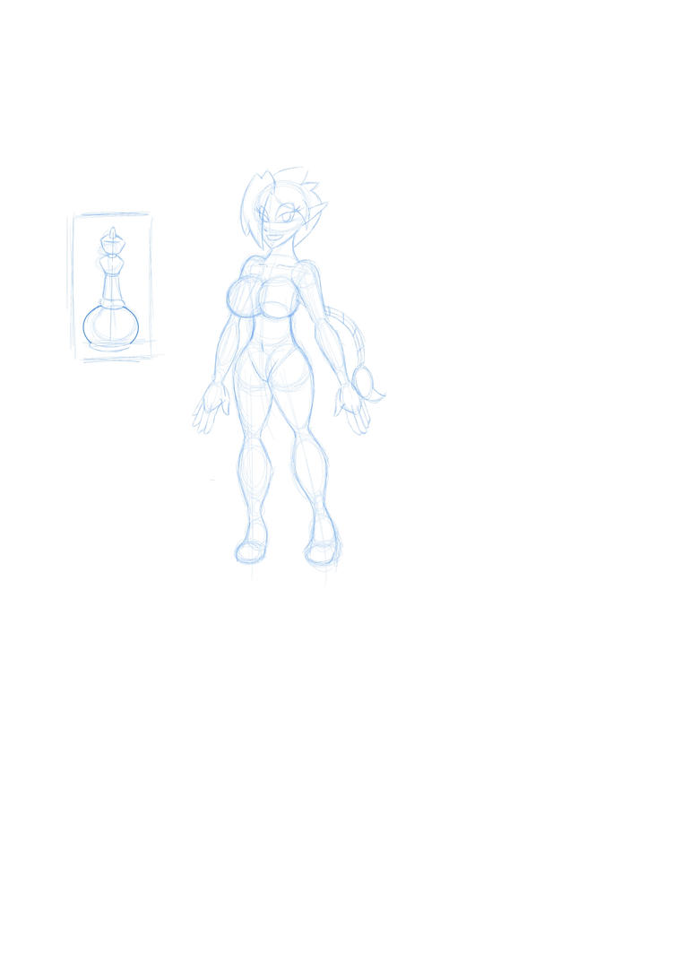 Lacy Genie Outline by LuckyBucket46