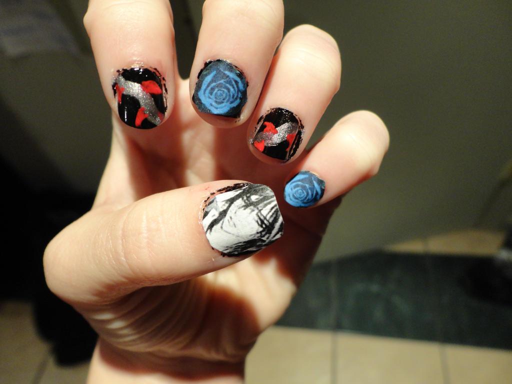 Vampire Knight Kaname nail art 2 by fluffluver1 on DeviantArt