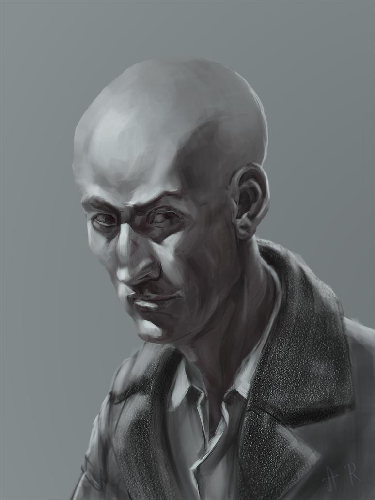 Male Portrait by AlexeyRa