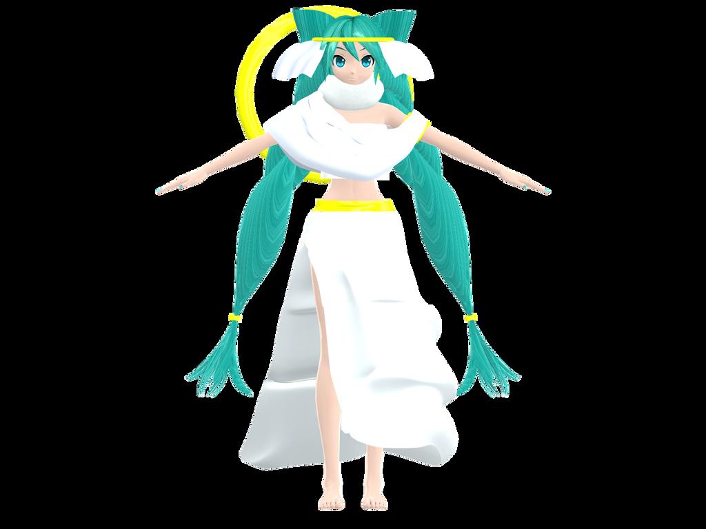 DT Holy Goddess Miku WIP by megpoid625