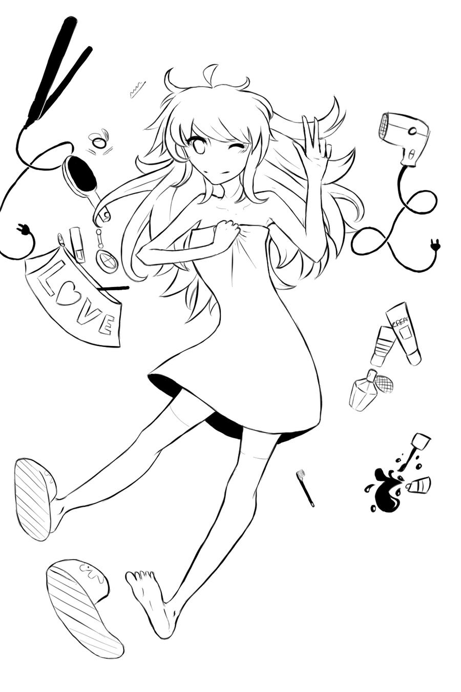 +Bathroom Girl+ by lumiorah