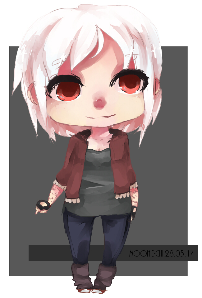 COMMISSION 1 white hair baby by lumiorah
