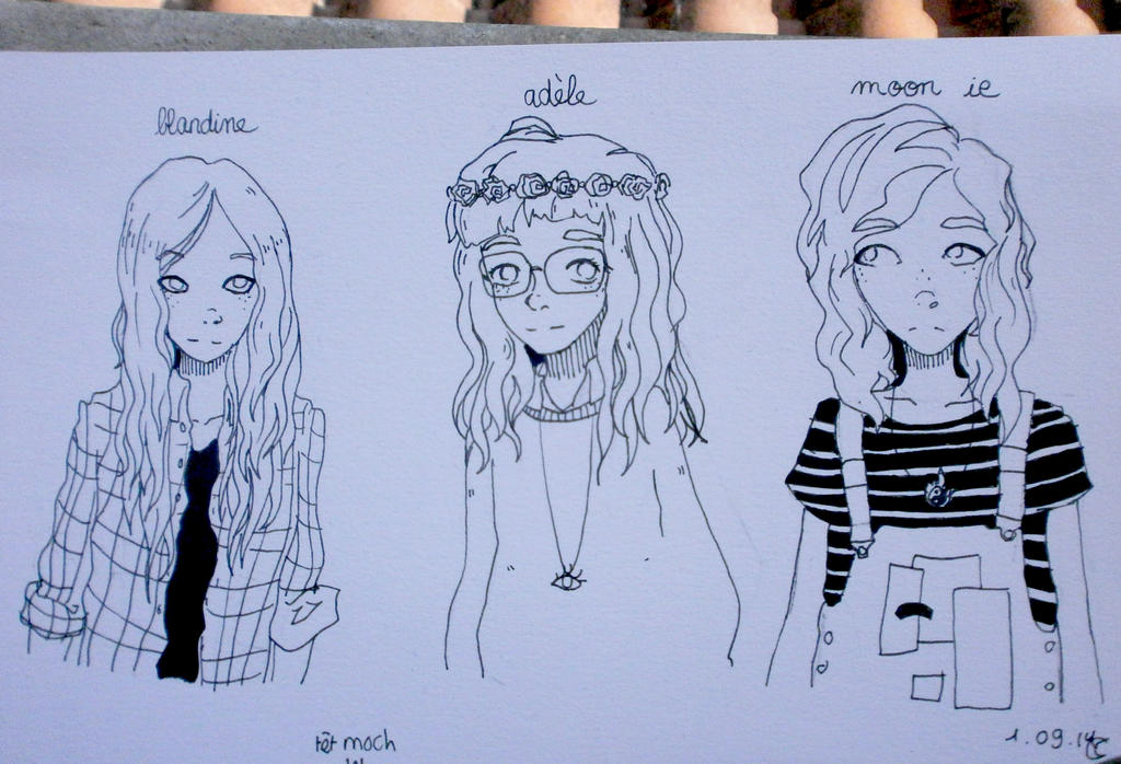 Random girls by lumiorah