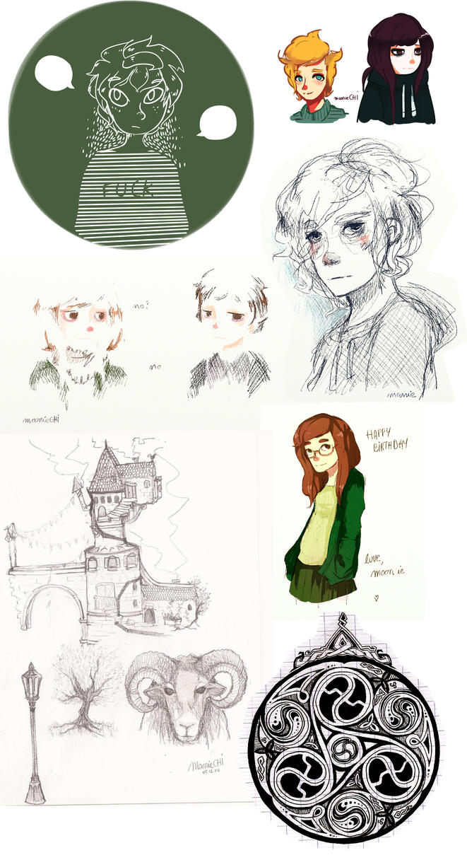 Sketch Dump // NOVEMBER by lumiorah