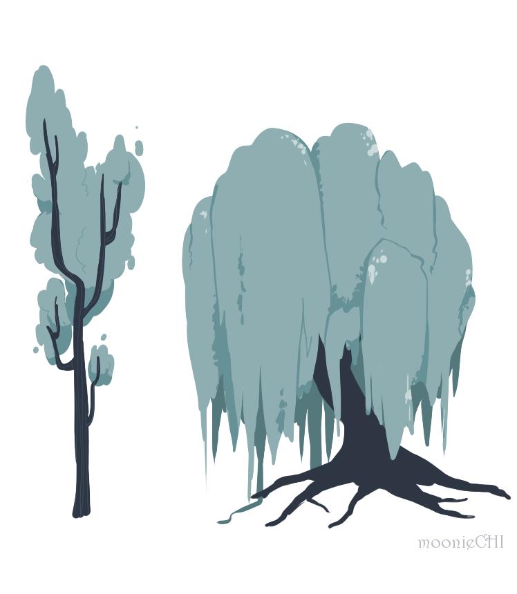 Trees by lumiorah