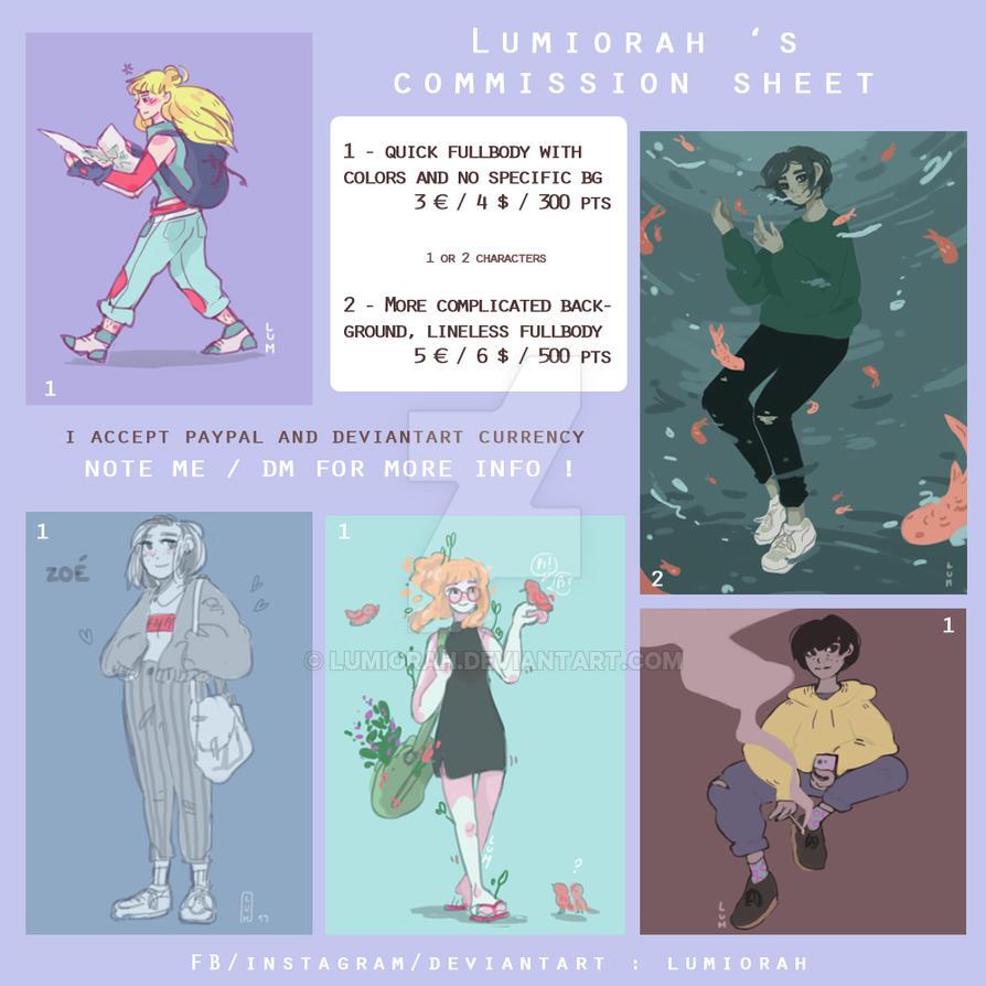 Digital commission info // LUMIORAH // by lumiorah