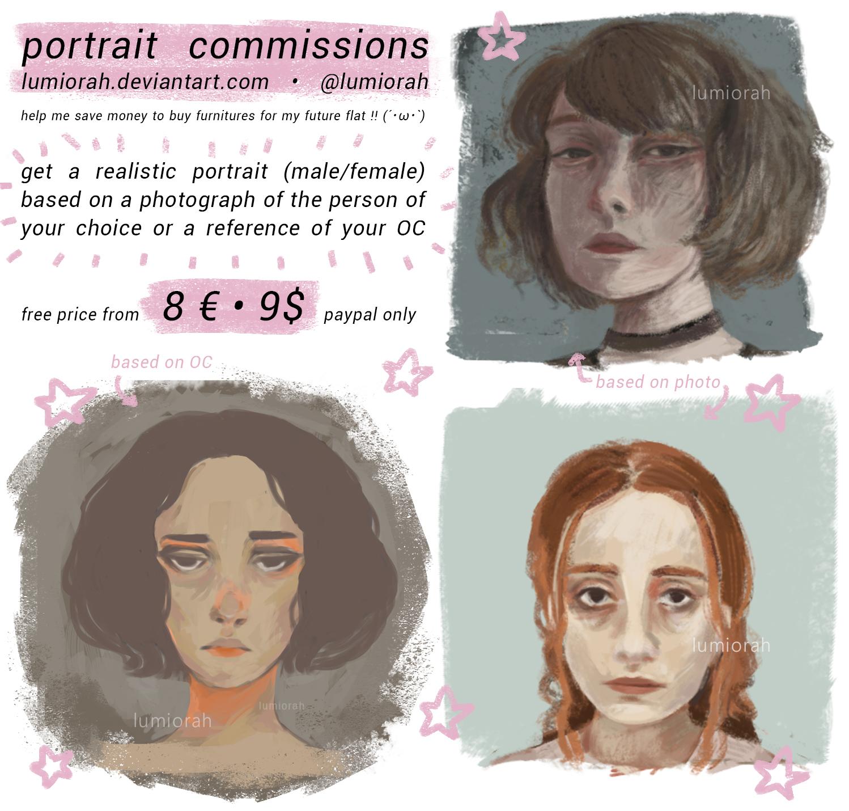 portrait commission sheet // lumiorah by lumiorah