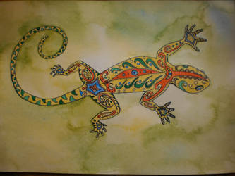 Whimsical lizzard by dunkelina