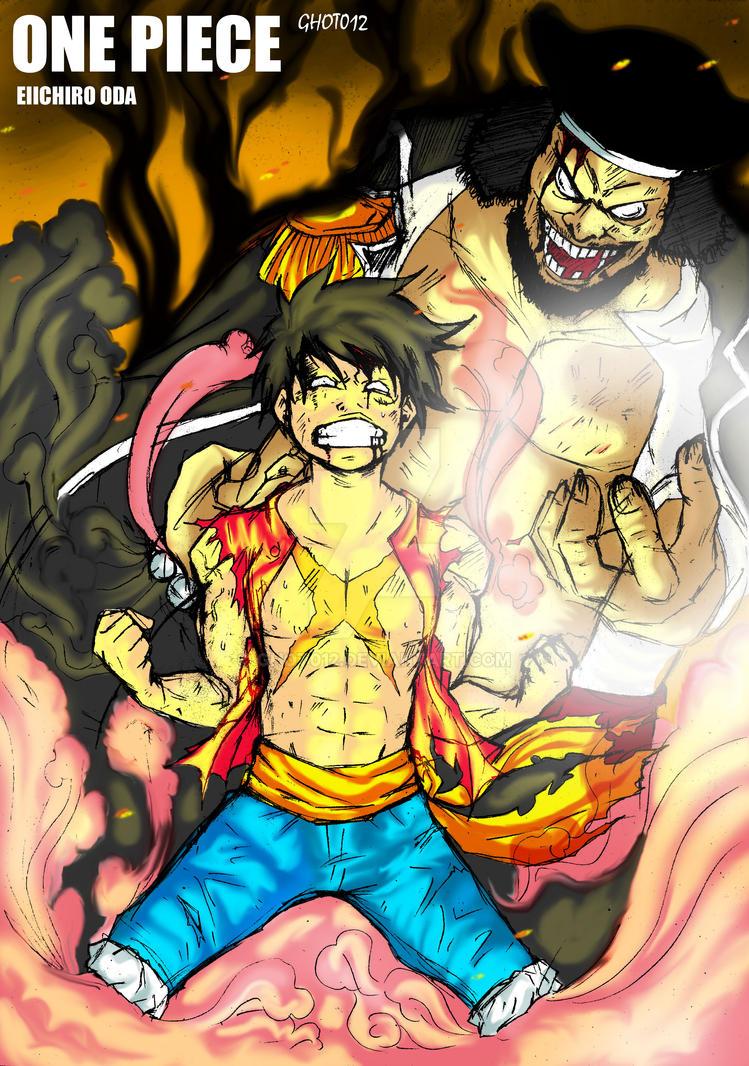 Luffy vs Kurohige by ghot012