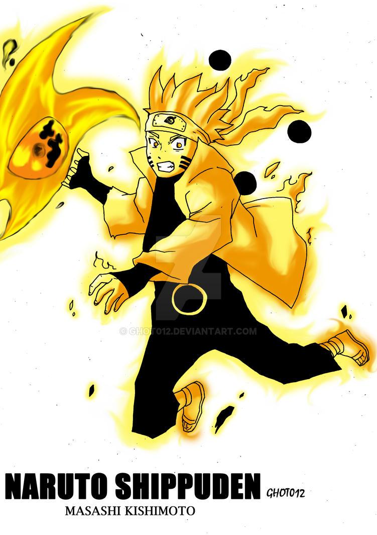 Naruto Fanart rikoudou senin mode by ghot012