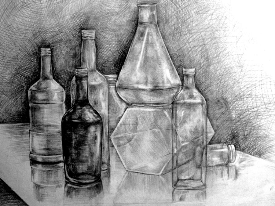 still life 'Bottles' 2 by taylorweaved on DeviantArt