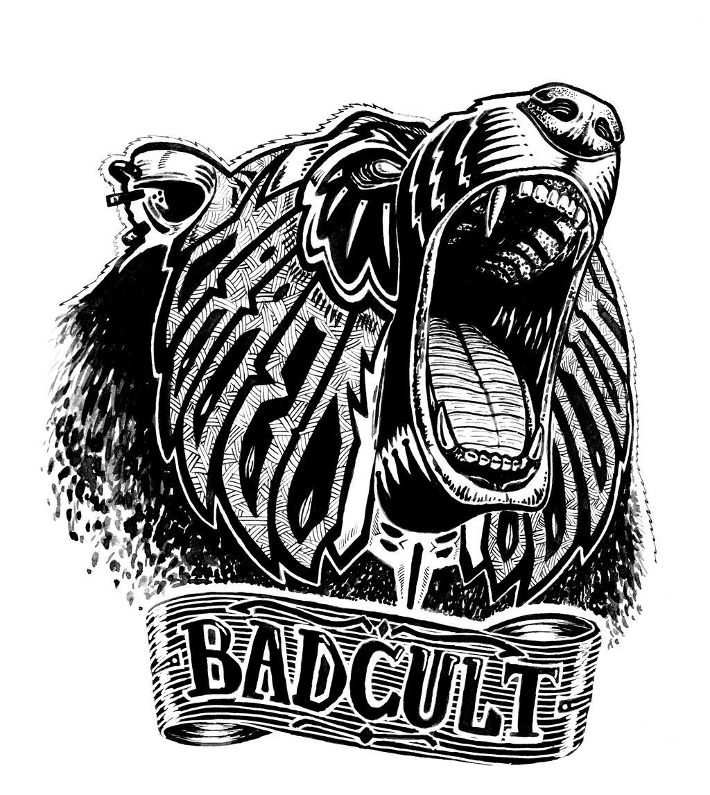 Angry bear head drawing - photo#15