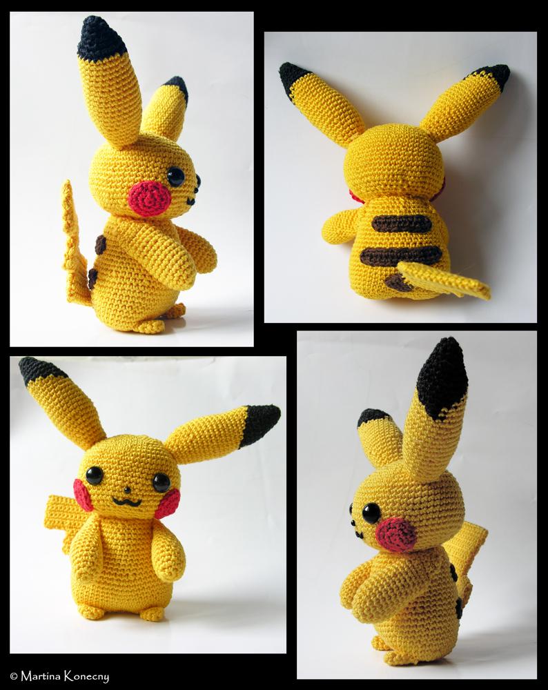 Beautiful Crochet Pikachu Pattern Adornment - Blanket Knitting ...