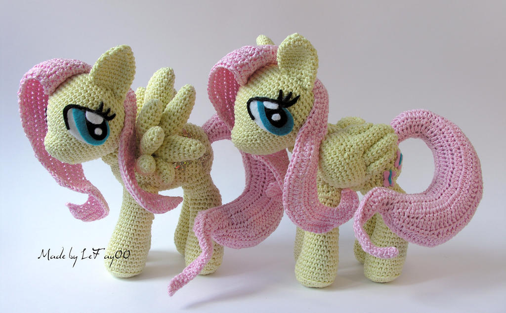 Fluttershy Amigurumi comparison wings by LeFay00