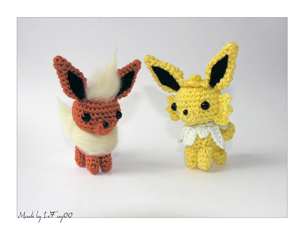 Chibi Flareon and Jolteon Amigurumi by LeFay00 on DeviantArt